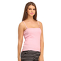 Cotton Camisole With Detachable Straps - Pink
