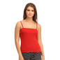 Cotton Camisole With Detachable Straps - Red