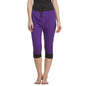 Cotton Capri In Purple