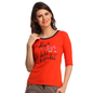 Cotton Comfy T-Shirt In Orange