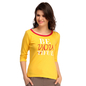 Cotton Comfy T-Shirt In Yellow