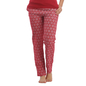 Cotton Full Length Printed Pyjama - Maroon