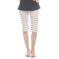 Cotton Yoga Capri - White