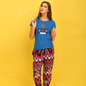 Cotton Graphic T-shirt & Crepe Printed Pyjama