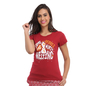 Cotton Graphic T-Shirt - Maroon