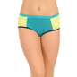 Cotton High Waist Colour Block Hipster - Blue