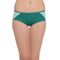 Cotton High Waist Hipster With Contrast Side Wings - Green