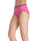 Cotton High-Waist Hipster with Contrast Elastic - Pink