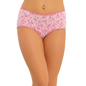 Cotton High Waist Hipster With Glitter- Pink