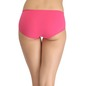 Cotton High-Waist Hipster With Side Lace Wings - Pink