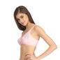 Cotton & Lace Non-Padded Wirefree Full Cup Bra - Pink