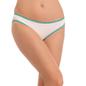 Cotton Low Waist Bikini - White