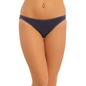 Cotton Low Waist Bikini With Contrast Overlock Design - Blue