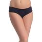 Cotton Spandex Bikini In Blue With Contrast Striped Back