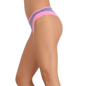 Cotton Spandex Bikini In Lavender With Contrast Lacy Trims
