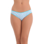 Cotton Spandex Bikini In Light Blue With Funky Print