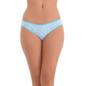 Cotton Spandex Bikini In Light Blue With Funky Print