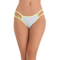 Cotton Spandex Bikini In White With Contrast Elastic Band
