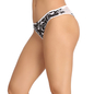 Cotton Spandex Bikini In White With Mid Waist Coverage