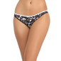 Cotton Spandex Bikini With Medium Waist Coverage - Black