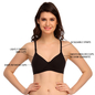 Padded T-Shirt Bra In Black With Detachable Straps