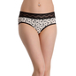 Cotton Spandex Hipster In Black With Lacy Front Waistband