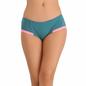 Cotton High Waisted Hipster - Green
