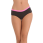 Cotton Spandex Hipster With Contrast Lace Band at the waist In Pink