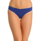 Cotton Spandex Thong In Blue With Contrast Trimmed Elastic