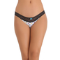Cotton Melange Bikini In Black With Lacy Waist