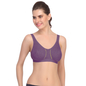 Cotton Non-Padded & Wirefree Sports Bra - Purple