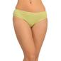 Cotton Mid Waist Bikini - Green