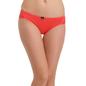 Cotton Mid Waist Bikini - Orange