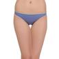 Cotton Mid Waist Bikini - Purple