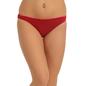 Cotton Mid Waist Bikini - Red