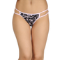 Cotton Mid Waist Bikini With 2 String Design - Blue
