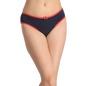 Cotton Mid-Waist Bikini with Bow at Centre - Blue