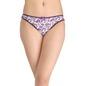 Cotton Mid Waist Bikini With Contrast Bow - Purple