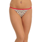 Cotton Mid Waist Bikini With Contrast Elastic Band - White