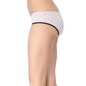 Cotton Mid Waist Bikini With Contrast Leg Band - Grey