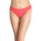 Cotton Mid-Waist Bikini with Contrast Trimmed Elastic - Pink