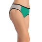 Cotton Mid Waist Bikini With Contrast Waist Band - Green