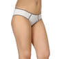 Cotton Mid Waist Bikini With Contrast Waist Band - White
