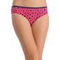 Cotton Mid Waist Bikini With Contrast Waist - Pink