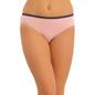 Cotton Mid Waist Bikini With Lace Trims - Pink