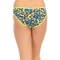 Cotton Mid Waist Bikini With Powernet Side Wings - Green
