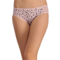 Cotton Mid Waist Bikini With Powernet Side Wings - Pink