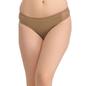Cotton Mid Waist Bikini With Powernet Sides - Skin