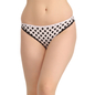 Cotton Mid Waist Bikini With Scallop Lace - Black