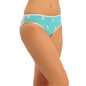 Cotton Mid Waist Bikini With Contrast Waistband - Blue